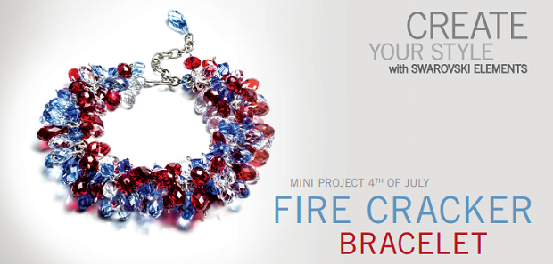 Swarovski Elements Fourth of July Crystal Bracelet Design Inspiration