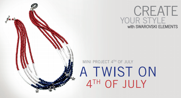 SWAROVSKI ELEMENTS Fourth of July Crystal Necklace Design Inspiration