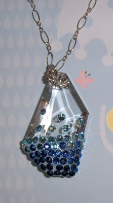Swarovski 6670 De Art Pendant with Flatbacks Ombre color