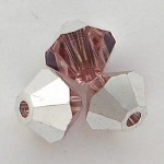 Swarovski Crystal 5328 Bicone Light Rose CAL