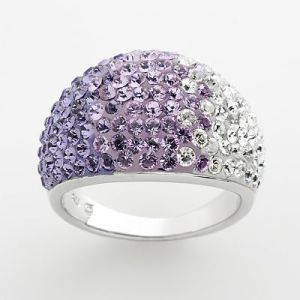 Swarovski Crystal Purple Ombre Ring