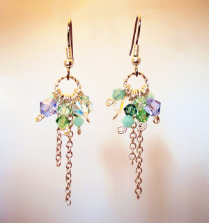 Swarovski Mint Alabaster colorful earrings