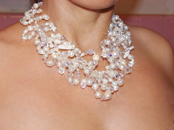 Swarovski Venus-Bridal-necklace-pearl-crystal