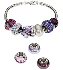 Swarovski BeCharmed Pave Beads Lavender Bay Color Inspiration