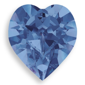 Swarovski Crystal Sapphire Heart Fancy Stone