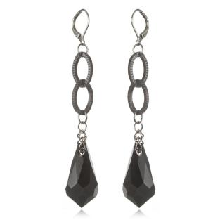 Cindy David Designs Jet Earrings