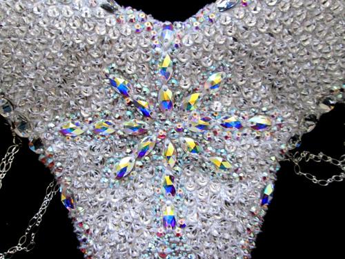 Wendy Szeto Crystal Snow Samba Bikini Bottom Detail