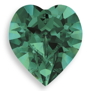 Swarovski Crystal  Emerald Heart