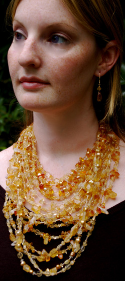 Citrine Necklace handmade by Betsy Klein Jewelry