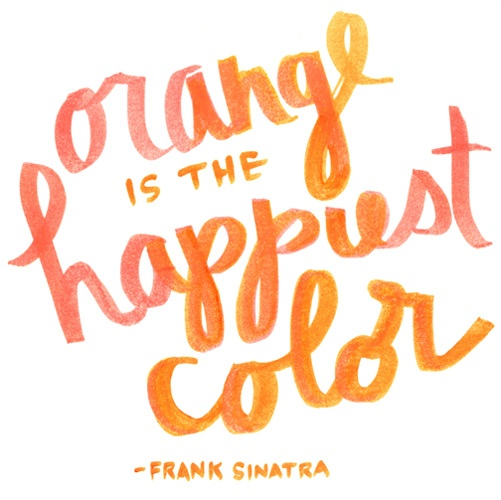 Pantone Fall 2013 Color Inspiration Koi Orange is the Happiest color