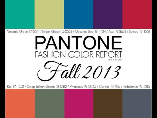 Pantone Fashion Color Report Fall 2013 Colors
