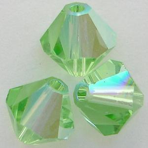 Swarovski Crystal Bicone 5328 Peridot AB