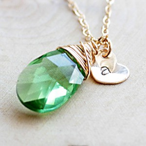 Swarovski Crystal Peridot Necklace