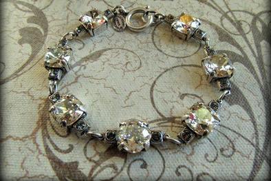 The Vintage Locket Swarovski Crystal Bracelet