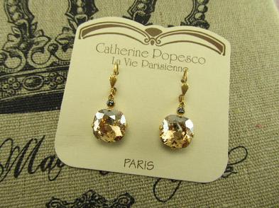 The Vintage Locket Swarovski Crystal Earrings