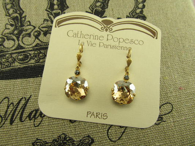 The Vintage Locket Swarovski Crystal Earrings