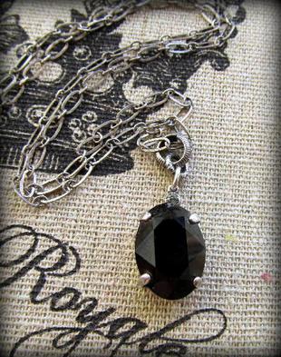 The Vintage Locket Swarovski Crystal Necklace