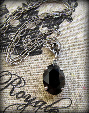 The Vintage Locket Swarovski Crystal Necklace