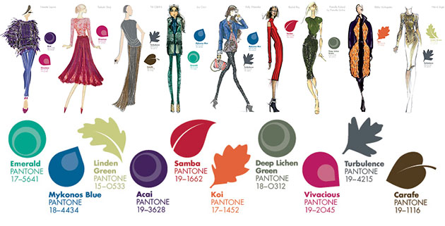 Pantone color trends Fall 2013 color Inspiration