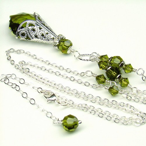olivine_necklace_baroque_swarovski_crystal_sterling_green_jewelry_