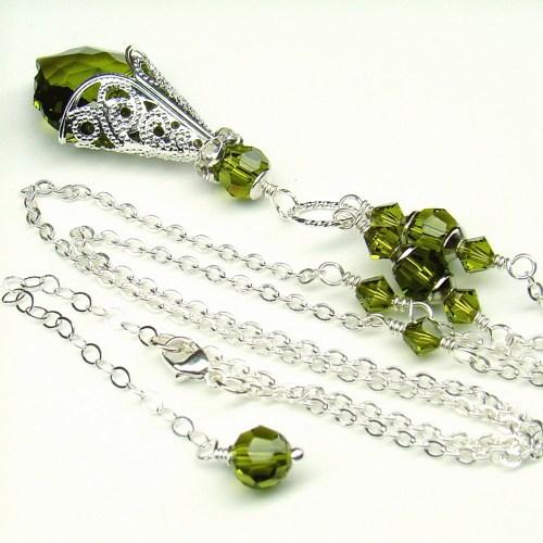 olivine_necklace_baroque_swarovski_crystal_sterling_green_jewelry_