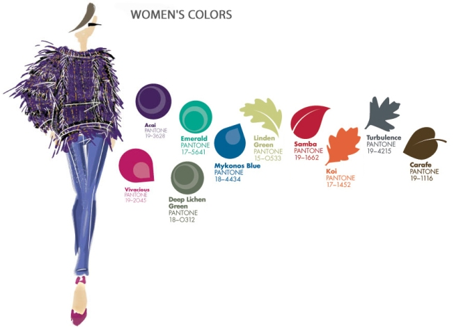 Pantone Fashion Color Trends Fall 2013