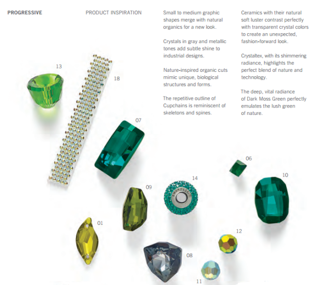 Progressive Product Inspiration Swarovski Fashion and Color Trends