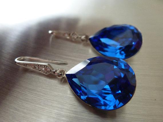 Swarovski Crystal 4320 Pearshape Fancy Stone Earrings