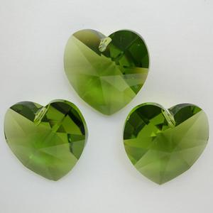 Swarovski Crystal 6228 Olivine Heart