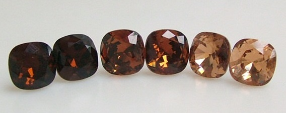 Swarovski Crystal Mocca, Light Colorado Topaz and Crystal Golden Shadow