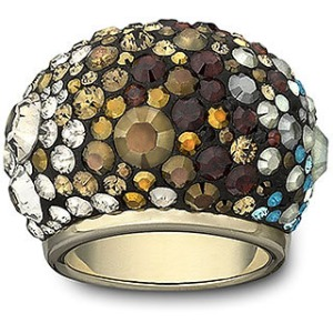 Swarovski Crystal Ring Mocca and AB Ombre look