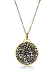 Swarovski Crystal Silver Night Crystal Rocks Necklace