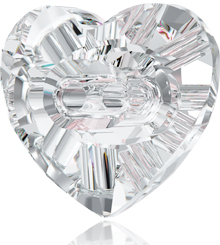 SWAROVSKI ELEMENTS 3023 HEART CRYSTAL BUTTON NEW ARTICLE