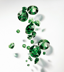 Swarovski Elements Dark Moss Green