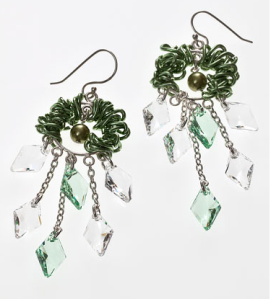 Swarovski Crystal Leaves Earrings jewelry design inspiration