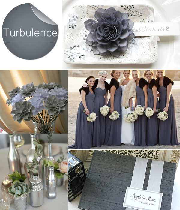 Turbulence Gray Trend For 2013 Fall Weddings