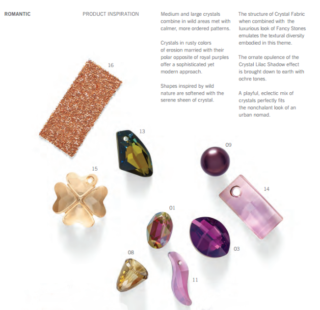 Romantic Product Inspiration Swarovski Fashion and Color Trends
