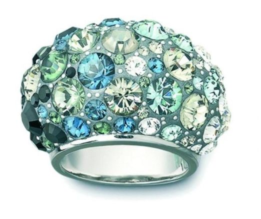 Swarovski Crystal Aquamarine and Blue Ring