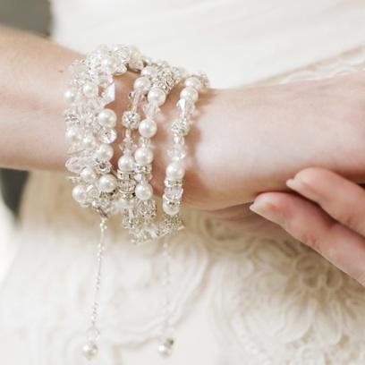 Swarovski Crystal Bridal Jewelry Bicones and Rhinestone Rondelles