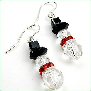 Swarovski Crystal snowman earrings