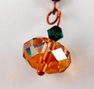Swarovski Pumpkin Necklace Rondelle Bead