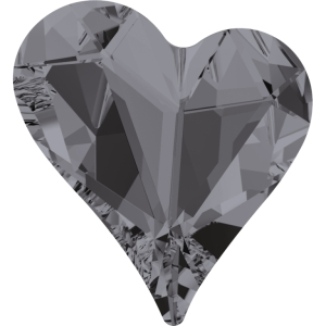 Swarovski Crystal Heart Fancy Stone Crystal Silver Night