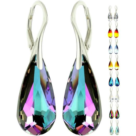 Swarovski 6100 Teardrop Pendant Earrings