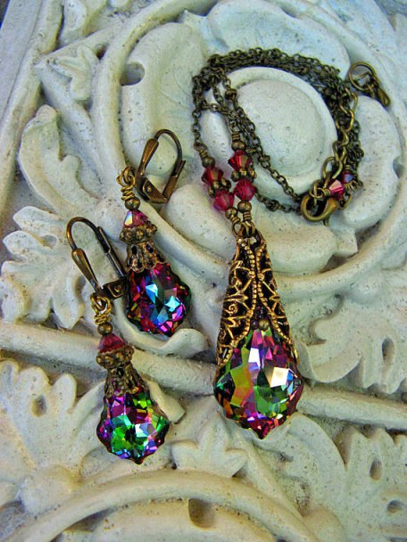 Swarovski Crystal Baroque Jewelry Set with Electra Coating