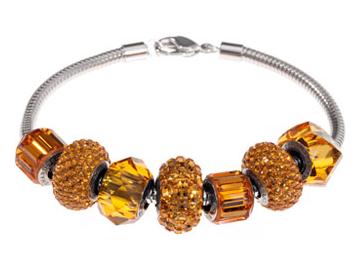 Swarovski Topaz Birthstone Bracelet Be Charmed Pave Beads