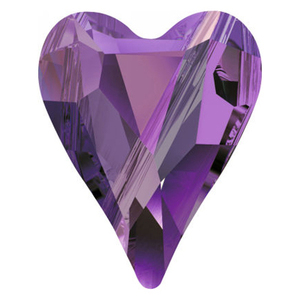 Swarovski Amethyst Heart