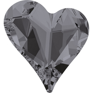 Swarovski Crystal Heart Fancy Stone Crystal Silver Night