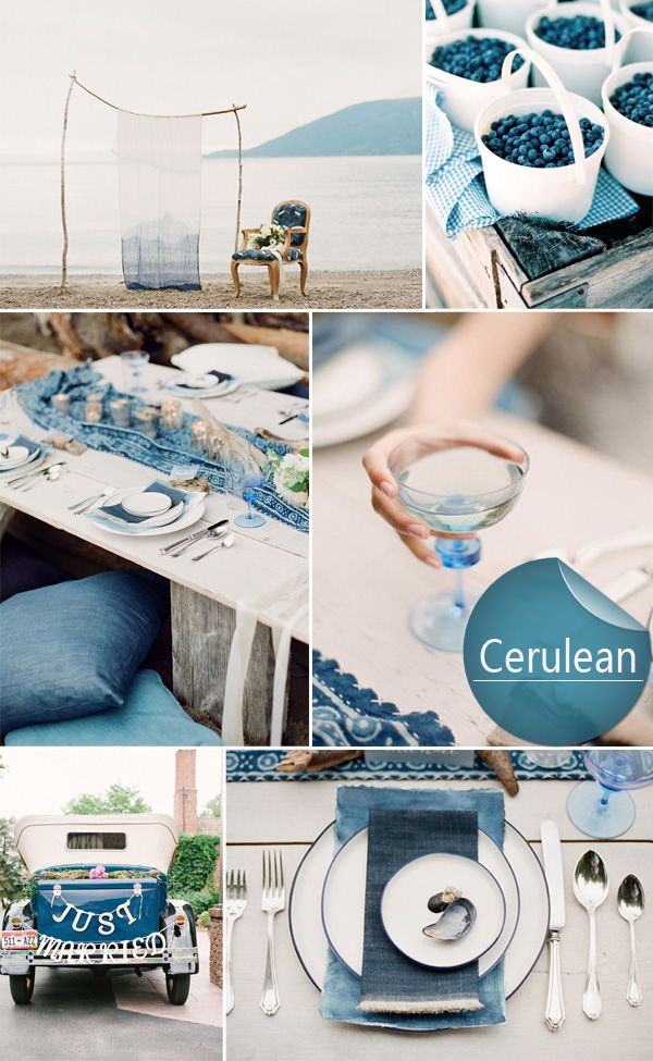 Cerulean Blue Top 10 Spring Wedding color palettes 2014