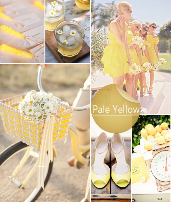 Pale Yellow Spring Wedding color 2014