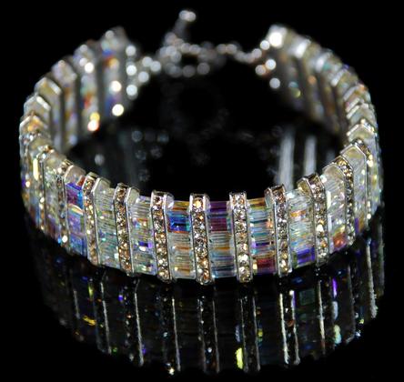 Swarovski Cube Bracelet Crystal AB